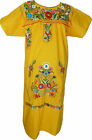 Yellow Mexican tunic dress peasant tunic dress ALL SIZES
