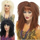 Smiffy's Adult Ladies Long Layered 80s Crimp Crimped Big Hair Punk Costume Wig