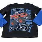 Blaze and the Monster Machines Boys Toddler l/s Shirt Size 3T 4T 5T Black Blue