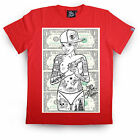 RUM KNUCKLES ' DIRTY CASH ' MENS RED T SHIRT / TOP / TEE (B5B)