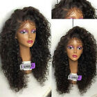 Brazilian soft curly full/front lace wig Human Hair baby hair bleached knots