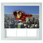 Ironman avengers childrens themed black out roller blind various sizes bed room
