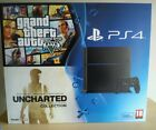 Sony PlayStation 4 Grand Theft Auto V & Uncharted 500 GB Jet Black Console