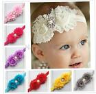 Cute Baby Girls Headband Toddler Burr Flower Pearl Rhinestone Headwear Hair Band