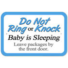 Plastic Sign Do Not Ring or Knock Baby Sleeping Leave Packages by the Front Door