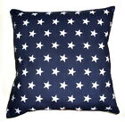New Navy Blue stars cushion cover - Hand Made  from £3.99