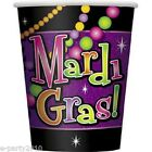 MARDI GRAS Beads 9oz PAPER CUPS (8) ~ Birthday Party Supplies Beverage Drinking