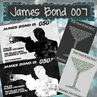 Personalised Invitations - James Bond 007 - Gun-Sexy-Martini-Silhouette-Shaken $12.0 AUD