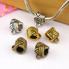 6Pcs Tibetan Silver,Gold,Bronze Charm Pendant Bail Connector Fit Bracelet M1244
