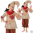 Kids Boys Girls Scarecrow Wizard of Oz World Book Day Fancy Dress Costume 4-7