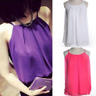 Women Summer Casual Sleeveless Shirt Chiffon Loose Vest Tank Top Blouse T-shirts