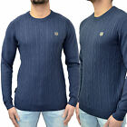 Mens Voi Jeans Jumper Designer Branded Cable Knitted Smart Sweater Top Knit BNWT