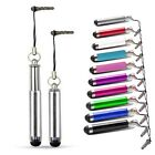RETRACTABLE TOUCH STYLUS PEN SILVER FOR VARIOUS MOBILE PHONES