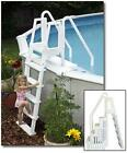 Easy Pool Step with Outside Ladder by Blue Wave