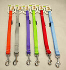 DOG PET LEAD LEASH STRONG NYLON WITH CLIP FOR COLLAR, HARNESS  VARIOUS COLOURS.