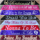 Personalised Birthday,Hen's Night,Baby Shower,Graduation,Party Sashes 20 Colours