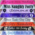 Personalised Sash Birthday, Baby Shower,Bride To Be, Any Wording - 20 Colours