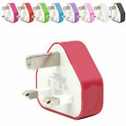 CE COLOURED USB 3 PIN WALL MAINS PLUG CHARGER FOR SAMSUNG GALAXY S5 G900