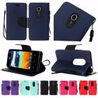 For ZTE N817 Premium PU Leather Wallet Flip Cover Case