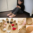 2016 Trendy Toddler Princess Girls Kids Sandals Rivet Buckle T-strap Flat Shoes