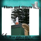 "Stove flue pipe kit for shed, garage, workshop 5 inch & 6"" complete Install Kit"