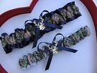 * NEW Mossy Oak Camouflage Camo Navy Wedding Garter Prom GetTheGoodStuff Deer *
