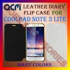 ACM-LEATHER DIARY FOLIO FLIP FLAP CASE for COOLPAD NOTE 3 LITE FRONT/BACK COVER