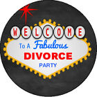Las Vegas Divorce Party Sign Edible Frosting Sheet Cupcake Cake