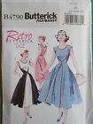 Butterick Walkaway dress SEWING BEE B4790 1950s inspired