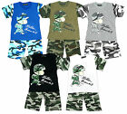 Boys Little Soldier Follow Me T-shirt & Camo Combat Army Shorts Set 2 - 12 Years
