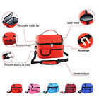 Classical Compartment Tote Insulated Ice Cooler Lunch Picnic Outing Bag Storage