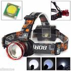 5000LM XM-L T6 LED Headlight Zoomable Flashlight Head Lamp Light 18650 Battery