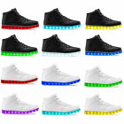 2017 High Top Sports Shoes 7 Led Light Lace Up sneaker Luminous Casual Shoes NEW