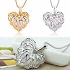 CHIC Fashion Silver/Gold Plated Heart Pendant Long Necklace Chain Jewelry Gift
