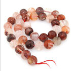 "Natural Red Crystal  Round  Gemstone Loose Beads  6mm 8mm10mm 15.5"" No.jj0005"