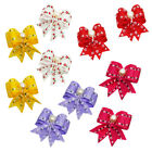 Pearl Ribbon Pet Hair Bows W/Rubber Bands Dog Cat Grooming Hairpin Random Colors
