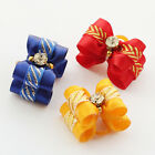 Pet Small Dog Cat Rhinestone Hair Bows Rubber Band For Cats Grooming Accessories