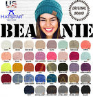 New Womens Knit Slouchy Beanie Oversized Thick Cap Hat Unisex Sequins Color CC