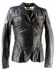 Giacca Donna BELSTAFF 723189 New Oasis Jkt Lady Antique Black Pelle Nero Lusso