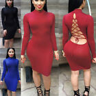 Fashion Cute Sexy Womens Club Party Backless Bandage Bodycon Cocktail Dress Gift