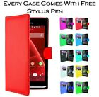 Magnetic Wallet Book Flip Card Holder Leather Pu Case Cover For Sony Xperia X