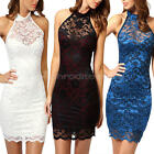 Sexy Lace Floral Party Women Slim Evening Cocktail Prom Club Mini Short Dress