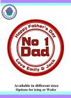 Father's Day Design Icing or Wafer paper Toppers for large Cake VARIOUS SIZES