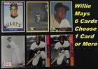 WILLIE MAYS_ 6 Different Limited-Print Cards _ Choose 1 Card or More