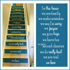 Stair riser stickers.High quality cut matt vinyl. 55x10cm (22x4 inch)