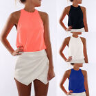 Women Summer Sleeveless Blouse Top Casual Clothes Tank Tops T-Shirt Vest Tops