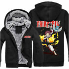 Anime Fairy Tail Natsu/Happy Unisex Thicken Jacket Sweater Hoodie Coat Cosplay