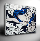 ROY LICHTENSTEIN 'Drowning Girl' square CANVAS Wall Art Picture