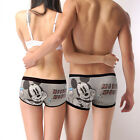 Disney Underpants Underwear Women Brief Couple Brief Boxer Mickey Brown U-14