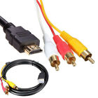 av rca to hdmi - HDMI Male to 3 RCA Video Audio AV Component Cable Adapter For HDTV PS4 ,US SHIP